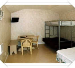 Cabin, bunk bed and desk